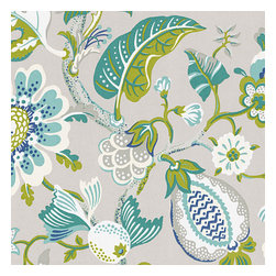 Blue & Gray Whimsical Floral Outdoor Fabric - At Loom we are always evolving, our fabric names are too! Just a heads up, this fabric was previously called: Flora-daRecover your chair. Upholster a wall. Create a framed piece of art. Sew your own home accent. Whatever your decorating project, Loom's gorgeous, designer fabrics by the yard are up to the challenge!