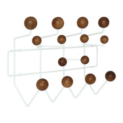 LexMod - Gumball Coat Rack in Walnut - Bright and colorful, the Gumball Coat Rack picks up where the Ball Clock leaves off. Perfect from those energetic rooms filled with exuberance and energy, each coated wooden ball is well positioned for fun. With its array of assorted confectioneries, hang it all from the bright yellow raincoat, to the child�s toy umbrella.