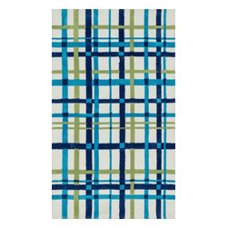 Loloi Rugs - Loloi Rugs Piper Collection - Blue / Green, 3' x 5' - Transform the floor into a vibrant play area for your child with the cheerful Piper Collection. Distinguished by its incredibly soft microfiber polyester surface and playful geometric and linear designs, the machine woven Piper Collection instantly l