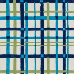 Loloi Rugs - Loloi Rugs Piper Collection - Blue / Green, 2' x 3' - Transform the floor into a vibrant play area for your child with the cheerful Piper Collection. Distinguished by its incredibly soft microfiber polyester surface and playful geometric and linear designs, the machine woven Piper Collection instantly l
