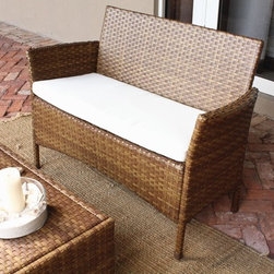 Panama Jack - Panama Jack St. Barths Loveseat - Escape to your very own Caribbean paradise with The St Barths collection by Panama Jack. The Loveseat incorporates an extruded aluminum frame with an exclusive thick woven wicker fiber from Viro and is strong and durable.