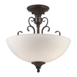 Designers Fountain - Designers Fountain Helena Traditional Semi Flush Mount Ceiling Light X-UB-11848 - Taking simplicity and European casual to a higher level of sophistication, the Helena Collection's graceful lines and intricate scroll detail captures simple elegance with an enduring style. Optional candle sleeves offer versatility and an Old World influence.