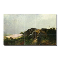 Picture-Tiles, LLC - Clearing Off Tile Mural By John Kensett - * MURAL SIZE: 24x40 inch tile mural using (15) 8x8 ceramic tiles-satin finish.
