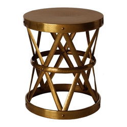Costello Side Table, Antique Brass By Arteriors