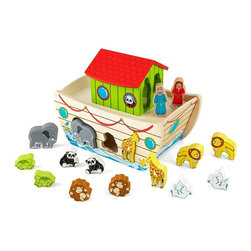 KidKraft - KidKraft Noah's Ark Shape Sorter Multicolor - 63244 - Shop for Developmental Toys from Hayneedle.com! Bring children's favorite Bible story to life with the KidKraft Noah's Ark Shape Sorter. Comes complete with two lions two turtles two monkeys two pandas two giraffes two elephants two doves Noah his wife and the ark. Includes 90-day manufacturer's warranty. No assembly requried