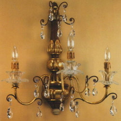 Artistica - Hand Made in Italy - Alba Lamp: Wall Light Sconce - /Swarovski Clear - Alba Lamp Collection: