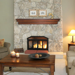 Fireplace Mantel Shelves - Salem - With classic lines and timeless appeal, the Salem wood mantel shelf is perfect for creating a warm, inviting atmosphere.