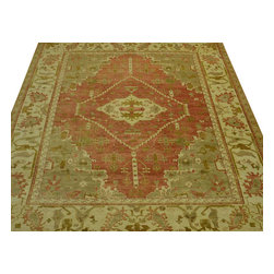 Oriental Rug, Antiqued Oushak 10'X14' Hand Knotted Vegetable Dyes Rug SH10148 - Hand Knotted Oushak & Peshawar Rugs are highly demanded by interior designers.  They are known for their soft & subtle appearance.  They are composed of 100% hand spun wool as well as natural & vegetable dyes. The whole color concept of these rugs is earth tones.