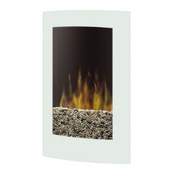 """Dimplex VCX1525WH Convex 23"""" Wall Mount Electric Fireplace White - Dimplex VCX1525WH Convex Wall-mount Electric Fireplace - WhiteProduct Features The tempered glass front and a seamless white finish design of the Convex wall mount fireplace, combine to create a contemporary look that adds style to any d?cor. Choose surface-mount, plug-in installation for the ultimate simplicity or recessed installation & hardwired capabilities for a sleek low-profile look. The black pebble flame bed can also be customized with any decorative fill.Features: Year-round comfort Enjoy the ambiance of the flame with or without the heater for year-round comfort and enjoyment. Thermostat control Includes a thermostat controlled fan-forced heater to ensure consistent comfort throughout your home. Supplemental heat Includes a powerful fan-forced heater designed to heat a room up to 400 square feet, providing supplemental heat when required. Safe With no flame heat or emission and a glass front that remains cool to the touch; our fireplaces are the safe choice for your home. Green Dimplex fireplaces are 100% efficient, producing no harmful particulates or emissions and 90% less carbon dioxide than an average direct vent gas fireplace. Pennies a day Economical to operate: 2 cents per hour (flame only) or 8 cents per hour with heat (cycling at 50%) Pebble flame bed Features a black pebble flame bed for a contemporary effect. * UPC Number: 781052067417"""