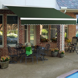 Awntech - Awntech DESTIN 8 ft. Motorized Retractable Awning - DTL8-O - Shop for Windows and Hardware from Hayneedle.com! More about BEAUTY-MARKConstructed of powder-coated steel and/or structural aluminum BEAUTY-MARK frames are engineered to endure rough weather conditions. These outdoor products have been engineered and tested to withstand excessive wind and snow loads. BEAUTY-MARK fabrics are comprised of state-of-the-art materials that are moisture- mildew- soil- and sometimes fire-resistant. SuperStrength lof monofilament threads are second to none with built-in UV blockers. They skip the cotton core that most other awning threads have which means seams have less chance of rotting or breaking apart.About AwntechBringing you BEAUTY-MARK awnings - a name synonymous with classic design and quality workmanship - Awntech's products range from prepackaged lightweight modular units to high-end ornamental works of art. They offer competitive prices on products of superior quality and durability that are easy to install. Awntech strives to bring you high-quality designer modular structures as mass production prices.A leader in the awning industry Awntech responds to the needs of do-it-yourself home improvement and business owners as a proven supplier of high-quality durable and affordable awnings structures accessories and materials for commercial and residential use.