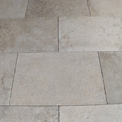 Castile Grey limestone - Available in distressed, honed or polished finishes.