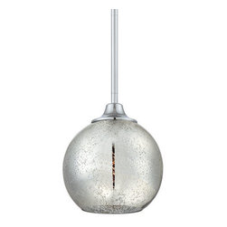 """Quoizel - Quoizel QPP1405 Quoizel Piccolo 9"""" Height Pendant Mini Pendant with 1 Light - Decorate your home in style with this captivating 1 light mini pendant featuring one-of-a-kind mercury glass.Features:"""