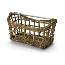 Go Home - Nirvana Magazine Basket - This well crafted basket is as handy for storage as it is stylish! This well made basket will garner rave reviews in any room in your home.