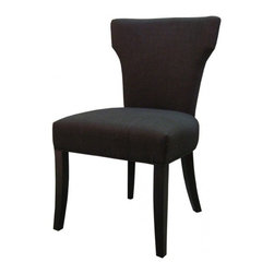 NPD (New Pacific Direct) Furniture - Dresden Dining Chair (Set of 2) by NPD Furniture, Charcoal - The Dresden dining chairs are a perfect set to bring together any space in your home. They compliment almost any decor and even double as extra seating. These chairs will satisfy for years to come by offering comfort, style, and durability. Available colors: Charcoal, Mushroom, Ocean, Sand, Toffee, Brown Herringbone, Onyx.