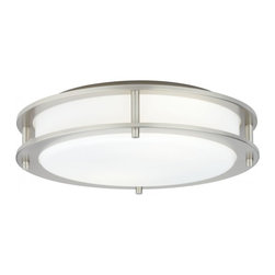 "Hart Lighting - Beautility 17"" Flush Ceiling Mount - Beautility 17"" Flush Ceiling Mount which includes 1002SN fixture and optional decorative insert."