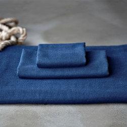 Bath - sea blue gauze towel set