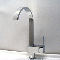 Modern Chrome Single Handle Kitchen Sink Faucet - Features:
