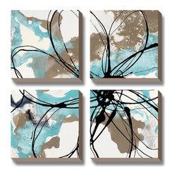 Artcom - 'Free Flow I' by Natasha Barnes - Canvas Art - Free Flow I by Natasha Barnes is a Canvas Art Set.