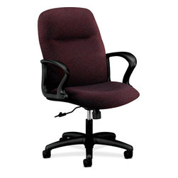 Rulers.com - HON Gamut Managerial Mid-Back Chair - This Gamut 2070 Series executive/conference chair combines engineered durability with luxurious cushioning to create comfortable designs that last. It offers superb comfort and attractive styles for any office at a great value, and features lumbar support and swivel/tilt.