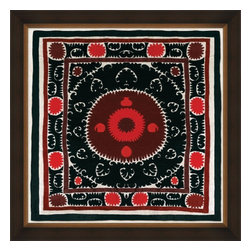 Wendover Art - Uzbek Silk IIII - This striking Giclee on Paper print adds subtle style to any space. A beautifully framed piece of art has a huge impact on a room for relatively low cost! Many designers and home owners select art first and plan decor around it or you can add artwork to your space as a finishing touch. This spectacular print really draws your eye and can create a focal point over a piece of furniture or above a mantel. In a large room or on a large wall, combine multiple works of art to in the same style or color range to create a cohesive and stylish space! This striking image is beautifully framed in rubbed espresso with gold.