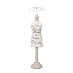 "Benzara - Wood Burlap Jewel Stand - If you are left with small space in your room and you want to use this space purposely, have a look over 41625 Wood Burlap Jewel Stand.; Material: Well seasoned quality wood; Color: Cream white; Exhibits special liking for home decoration; Exhibits passion for art; Dimensions: 21""H x 5""W"