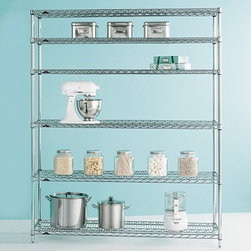 Metro® Commercial Pantry Shelves - This is the baker's rack I've been searching for my entire life. This would take care all of your kitchen needs and do it in style. Added bonus: the shelves are adjustable. Finally, a place to store my stand mixer.