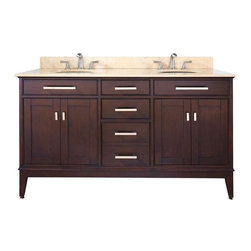 "Avanity - Avanity Madison 60 Vanity Cabinet Only, Light Espresso (MADISON-V60-LE) - Avanity MADISON-V60-LE Madison 60"" Vanity Cabinet Only, Light Espresso"
