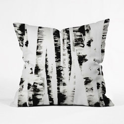 Wild Birch Throw Pillow Cover - Ah, to take a nap in the woods. Sometimes it's the only place to find solace. Now, you can bring the outdoors indoors with this woodsy throw pillow cover inspired by the papery bark of a wild birch tree.