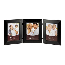 Origin Crafts - Dakota duo black 3 hinged frame (4x6) - Dakota Duo Black 3 Hinged Frame (4x6) Natural Pine wood,,velvet back, wall hangers. Dimensions (in): By Prinz - Prinz is a leading supplier of picture frames. At Prinz they are committed to offering unsurpassed design, quality, and value. Ships within five business days.