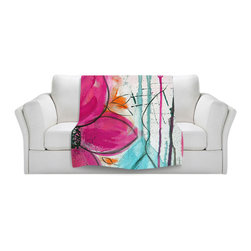 DiaNoche Designs - Throw Blanket Fleece - Home Grown II - Original artwork printed to an ultra soft fleece blanket for a unique look and feel of your living room couch or bedroom space. Dianoche Designs uses images from artists all over the world to create Illuminated art, canvas art, sheets, pillows, duvets, blankets and many other items that you can print to. Every purchase supports an artist!