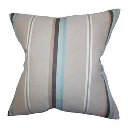 "The Pillow Collection - Lido Stripes Pillow Gray 18"" x 18"" - Bring a modern feel to your living space with this throw pillow. This accent piece features a classic stripe pattern in shades of gray, blue, neutral and black. This toss pillow adds depth and texture to your bedroom, living room or office. Ideal for various settings and styles, this 18"" pillow is made of high-quality material."