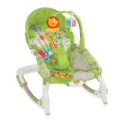 Fisher Price - Fisher-Price Rain Forest Friends Newborn-to-Toddler Rocker - Kids and parents, alike, will enjoy the versatility of the Newborn-to-Toddler Rocker. Designed to grow with baby, this delightfully fashioned rocker and seat features 3 different recline positions for newborns, infants and toddlers.