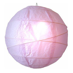 "Oriental-Decor - Prosperous Lavender Globe Lantern, 12"" - Lavender is closely related to purple on the color spectrum. Not as strong as purple in vibration, it provides a more soothing and relaxed effect. Lavender is a good color for the decor of children and girls and has associations with healing and spirituality. This lavender paper lantern will give off a soft, relaxing light while enhancing the look of any space."