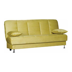 Istikbal - Vegas Rainbow Green Convertible Sofa Sleeper - A fresh designed and stylish casual Vegas Rainbow Green Convertible Sofa Bed features the under-seat storage space and can be converted from a sitting position to a bed. Hot colors, tufted back modern style, hidden storage and a sleeper - The Vegas sofa bed has it all!
