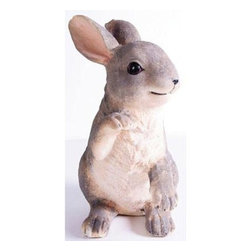 Kelkay - Sitting Rabbit - Kelkay collectable Animals are inspired by Nature and loved by You! Exclusive designs bringing beauty  charm  and realism to the Animals assortment. Designed for indoor and outdoor use  made from durable resin-stone  they will look great around the home and garden. Exclusively designed by Kelkay  This item cannot be shipped to APO/FPO addresses. Please accept our apologies.