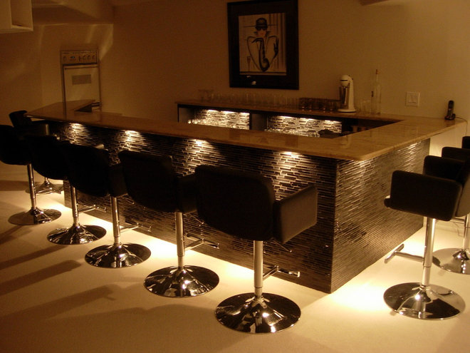 Contemporary Basement by DDS Design Services, LLC by Jeff Kida