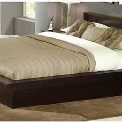 Lifestyle Solutions - Zurich Platform Bed (Queen) - Choose Size: QueenComplete contemporary platform bed frame includes rails and 14 sturdy-slat pack with quality center support rail and legs to offer the assurance of stable sleep with sleek modern design lines.  Elegant, and regal this simply styled design offers maximum impact with tropical hardwood construction with rich Maple or cappuccino finishes. Solid wood frame, side rails and center support legs. Center support bar for superior strength and durability. 13-slat pack included for exceptional mattress support. Certified for compliance with International Tropical Timber Organization (ITTO). Made from tropical hardwood solids and veneers. Eight-step cappuccino finish with durable protective lacquer. Queen: 90.75 in. L x 72.25 in. W x 31.50 in. H. Eastern king: 90.75 in. L x 88.33 in. W x 31.50 in. H. Assembly Instruction