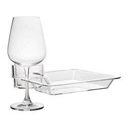 Franmara - Squared Multi-Beverage Holding Party Plate in Clear Acrylic - This gorgeous Squared Multi-Beverage Holding Party Plate in Clear Acrylic has the finest details and highest quality you will find anywhere! Squared Multi-Beverage Holding Party Plate in Clear Acrylic is truly remarkable.