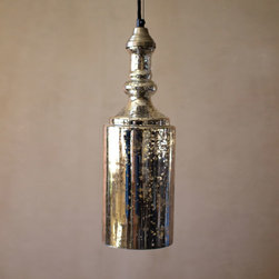 Urban Mix Bottle Pendant - Illuminate any space with this rustic pendant light. Hang it over a reading chair, in the foyer, or paired with another over your dinner table. Its mercury glass construction with a distressed finish creates just the right ambiance for any occasion and is sure to add a little urban edge into the mix.