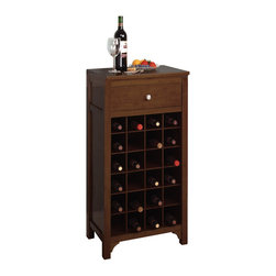 Winsome Wood - Winsome Wood Wine Modular Cabinet - This stately modular wine cabinet holds 24 bottles. Add other unit and crate a larger wine storage. Wine Cabinet (1)