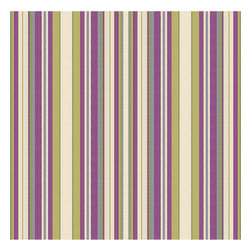 Purple & Green Stripe Woven Fabric - Recover your chair. Upholster a wall. Create a framed piece of art. Sew your own home accent. Whatever your decorating project, Loom's gorgeous, designer fabrics by the yard are up to the challenge!