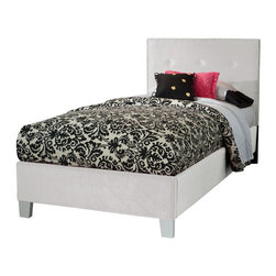 Standard Furniture - Standard Furniture Young Parisian Upholstered Kids' Bed in White Velvet - Full - Upholstered Kids' bed in White Velvet belongs to Young Parisian collection by Standard Furniture. Young Parisian beds will add alluring Hollywood glamorous styling to youth bedrooms, with their plush fabrics and eye-catching jeweled accents.