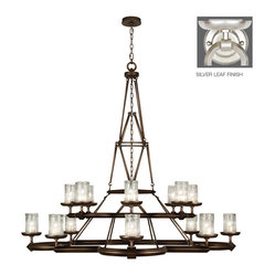 Fine Art Lamps - Liaison Silver Chandelier, 860540-2ST - A marvel of engineering and craftsmanship (just like its namesake), this chandelier features 16 lights laid out on two levels. The articulated frame is fabricated from hand-crafted metal and comes in a platinized silver or antique hand-rubbed bronze finish.