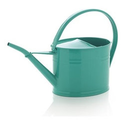 Sea Green Watering Can - Classic galvanized iron suits up in sea green to water thirsty houseplants and outdoor containers.