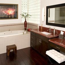 Asian Bathroom by E Design,Inc