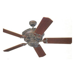 Montecarlo - Montecarlo Aberdeen Ceiling Fan in Tuscan Bronze - Montecarlo Aberdeen Model 5AB52TB in Tuscan Bronze with Mahogany Finished Blades.