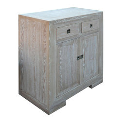 European Style Solid Elm Wood Side Table Storage Cabinet - This is a European style side table cabinet which is made of solid elm wood. It comes with very simple and clean design. It is perfect to put in your living room or dinning room.