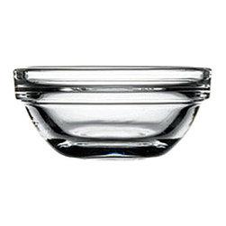 Hospitality Glass - 1H X 2.25T X 1.25B 1 oz Stack Bowl 24 Ct - 1 oz Stack Bowl