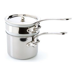Mauviel - Mauviel M'cook Stainless Steel Bain Marie, Cast Stainless Steel Handle, 0.9 qt. - 5 ply Construction - High performance cookware, works on all cooking surfaces, including induction.