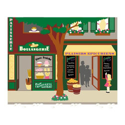 Elephants on the Wall - Pastry & Grocery Store Wall Mural - Paris - Pastry & Grocery Store